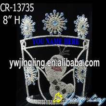 Top for China Christmas Snowflake Round Crowns, Candy Pageant Crowns, Party Hats. Wholesale Blue Snowflake Christmas Pageant Crowns export to Angola Factory