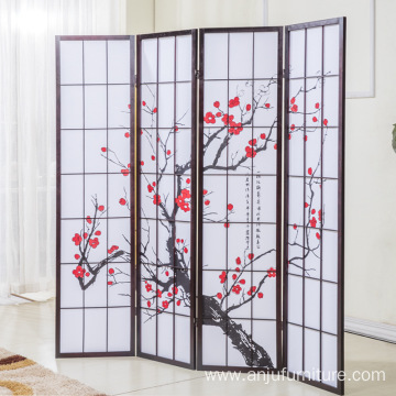 4 panels Japanese Korean  Style Room Divider American Style  screen room divider room divider