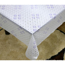 Printed pvc lace tablecloth with elastic