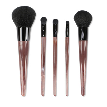 Brown Brown Simulated Handle Professional Makeup Brushes