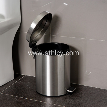 Stainless Steel Slow Drop Silent Foot Garbage Can