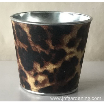 Graffiti tin flower bucket