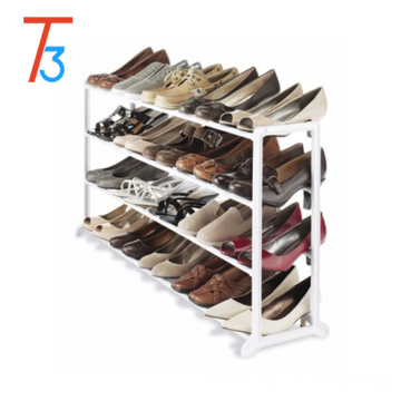 Shoe Rack 20 Pair 4 Space Saving Tier Stand Closet Storage Organizer Shelf Home