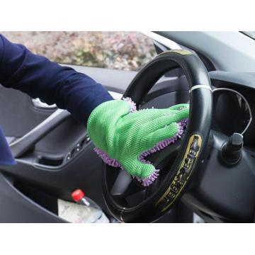 car cleaning glove in Chenille material
