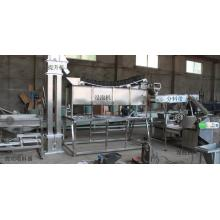 Wet type lentils peeling machine line