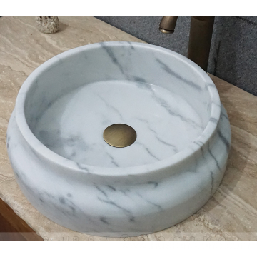 Guangxi white marble round sink