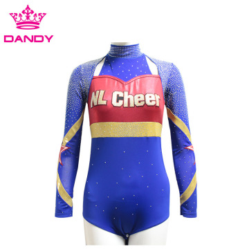 Metal fabric fashion design youth cheer uniform