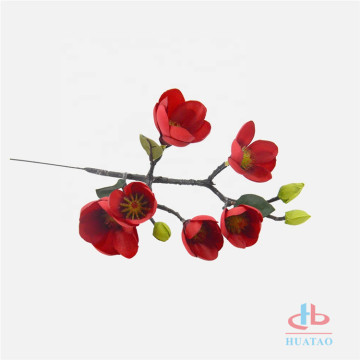 Real touch silk magnolia artificial flowers