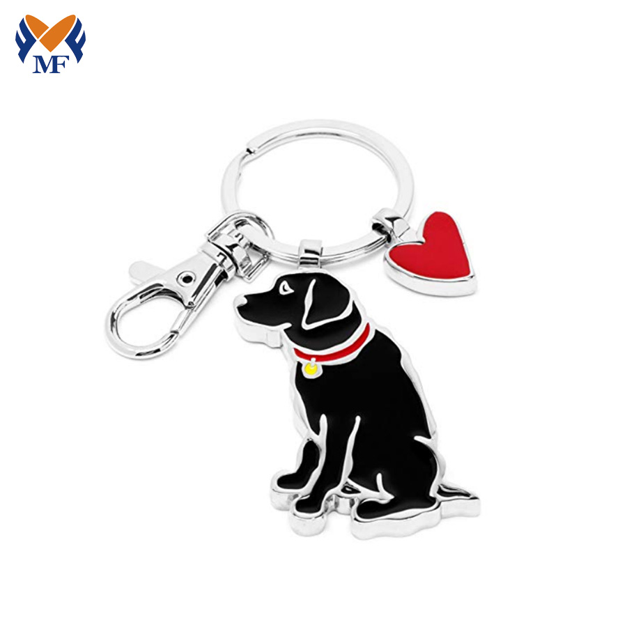 Dog Shaped Keychain
