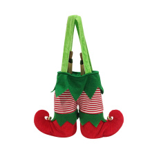 Christmas wine bottle bag with magic elf pattern