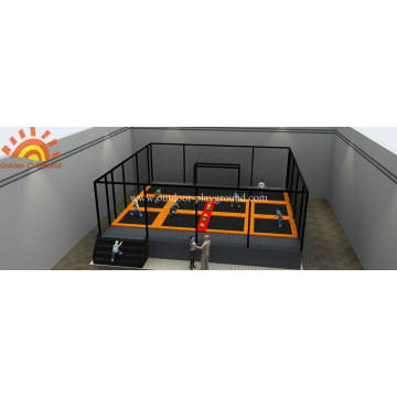 Gymnastic Football Trampoline Area