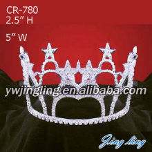Star Rhinestone Full Round Crowns