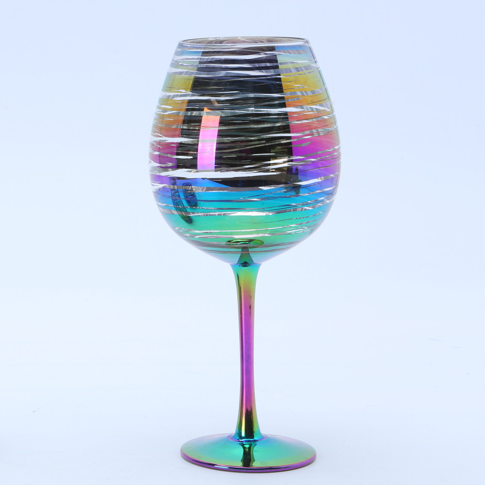 Wholesale Rainbow Goblet Wine Glass1