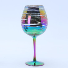 High Quality for China Goblet Chalice, Beer Chalice, Drinking Chalice, Glass Goblet Manufacturer Wholesale Rainbow Goblet Wine Glass supply to Fiji Manufacturers