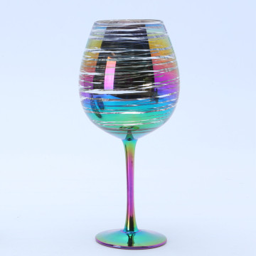Best Quality for China Goblet Chalice, Beer Chalice, Drinking Chalice, Glass Goblet Manufacturer Wholesale Rainbow Goblet Wine Glass export to Barbados Manufacturers