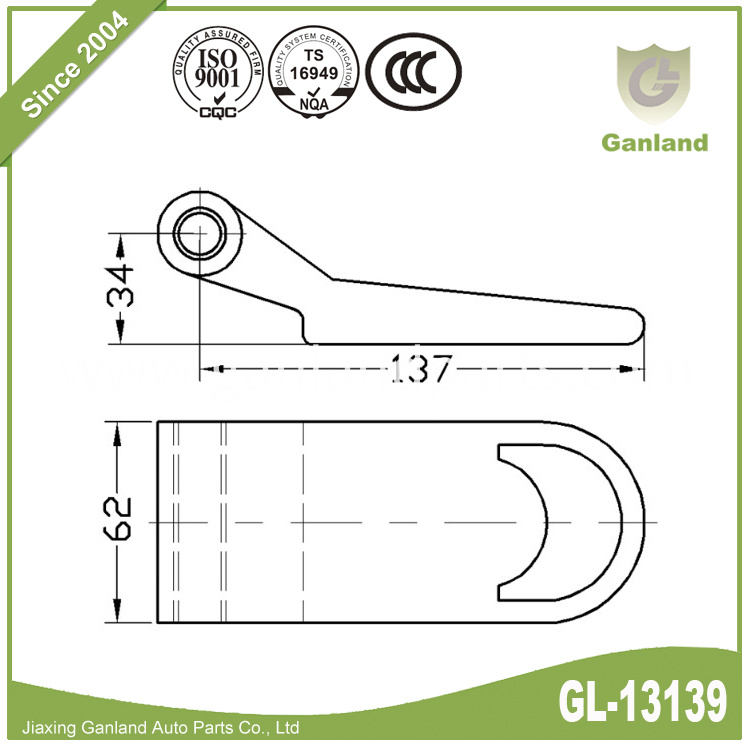 Over Seal Container Hinge GL-13139-1