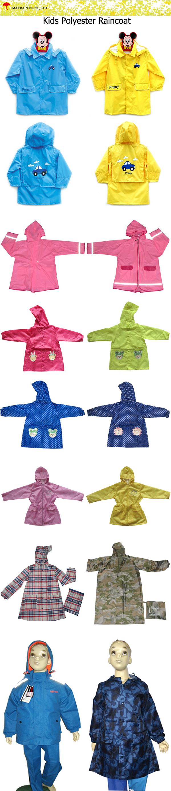 Kids Polyester Raincoat