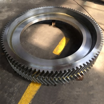 casting alloy steel ring gear for cement mill