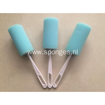 Bottle cleaning handle brush kitchen sponge