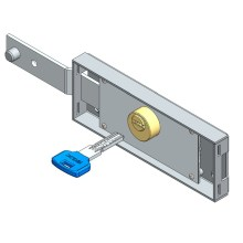 China for Left Side Roller Shutter Lock,Contral Roller Shutter Lock,Single Side Roller Shutter Lock Manufacturers and Suppliers in China Left roller shutter lock computer key shifted bolt export to Portugal Exporter