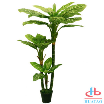 Artificial plastic lifelike artificial potted plants