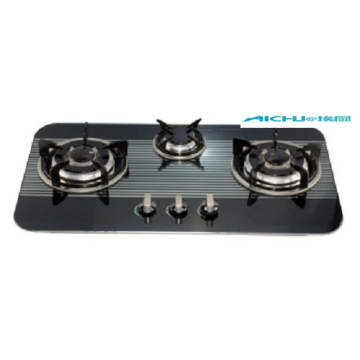 3 Burners Tempered Glass Gas Stove