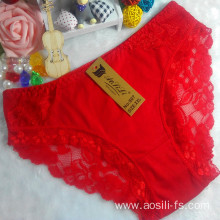 OEM wholesale new style red sexy comfortable lace cotton fancy underwear 807