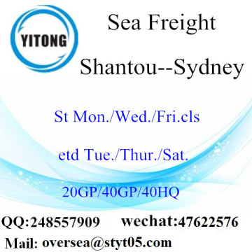 Shantou Port Sea Freight Shipping To Sydney