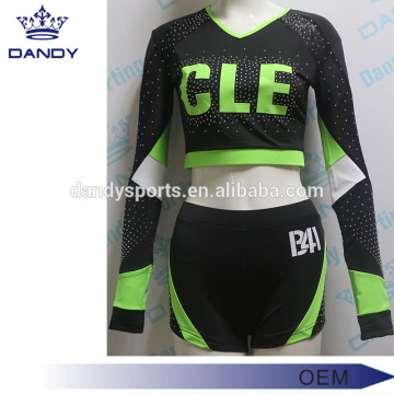 V Neck Lycra Cheerleader Outfit