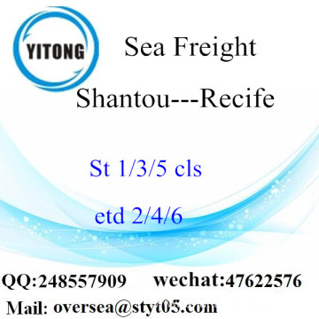 Shantou Port LCL Consolidation To Recife