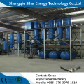 underground oil refining to diesel oil distllation plant