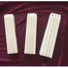 tight shrink paraffin wax white candle bougies