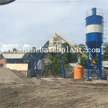 40 Mobile Concrete Batching Plant With Cement Silo