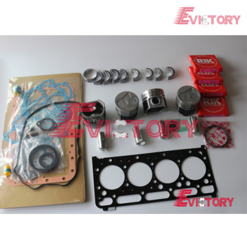 KUBOTA V2203-DI-T rebuild overhaul kit gasket bearing piston