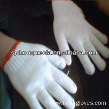 pvc dot knitted cotton gloves
