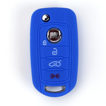 Silicone fiat 500 fob key shell cases cover