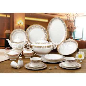 New bone china tableware Set  GOLDEN 24K