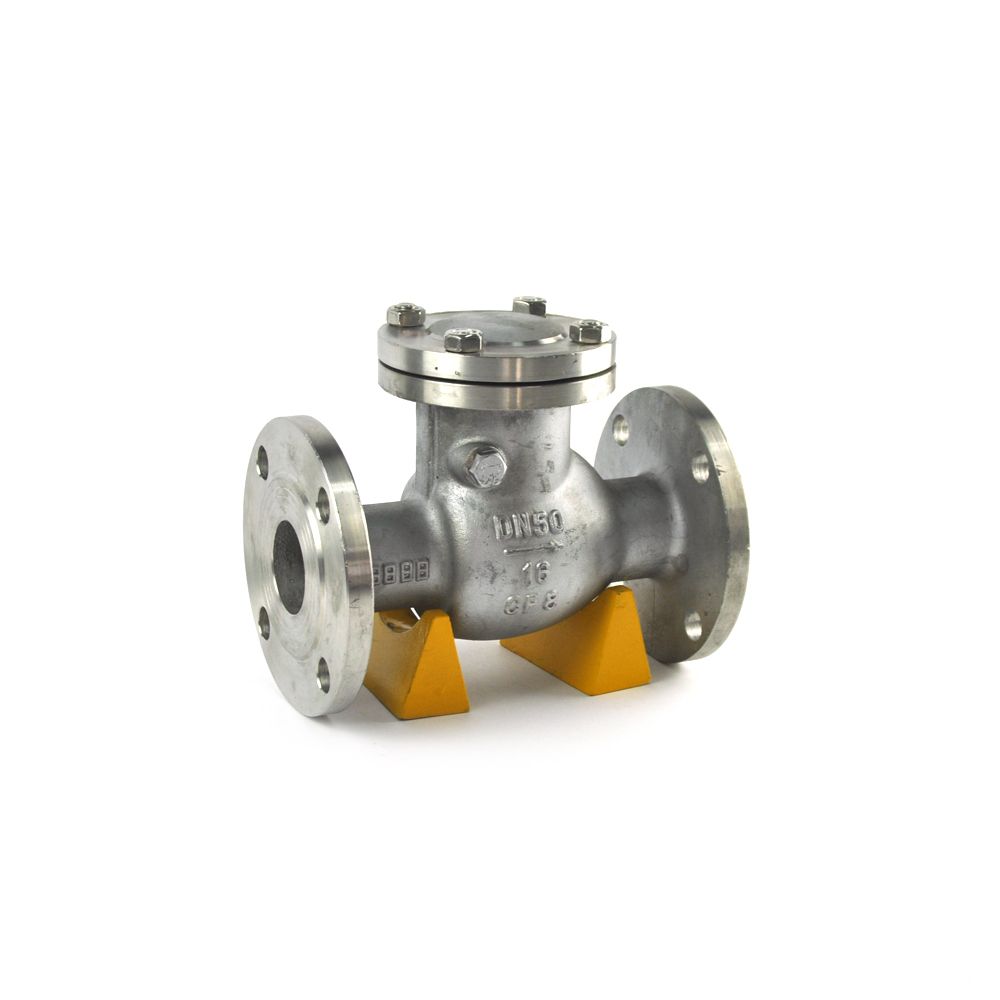 high quality vertical lift ss316 check valve double flange for sea water