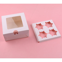 Paper cupcake boxes for 4 cupcakes
