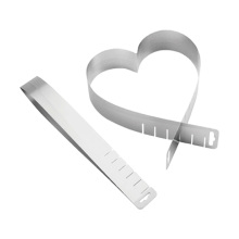 Reliable Supplier for Mousse Cake Ring stainless steel extendable Heart Shape cake ring supply to Armenia Manufacturer