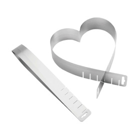 stainless steel extendable Heart Shape cake ring