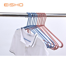 Supply for China Non Slip Hangers,Fabric Covered Hangers,Fabric Covered Coat Hangers Manufacturer and Supplier EISHO  Rattan Metal Rope Shirt Hangers export to Germany Exporter
