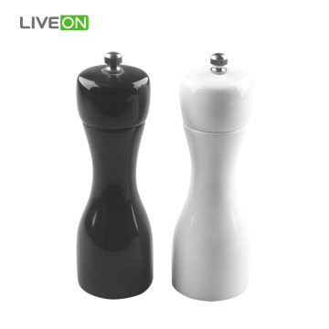 2 pcs Rubber Wood Pepper Grinder Set