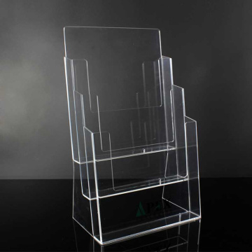 Acrylic Table Top 4 Tier Brochure Holder