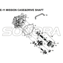 E-11 MISSION CASE&DRIVE SHAFT for XS175T SYMPHONY ST 200i Spare Part Top Quality