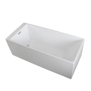 Modern Bathroom Rectangle Freestanding BathTub in White