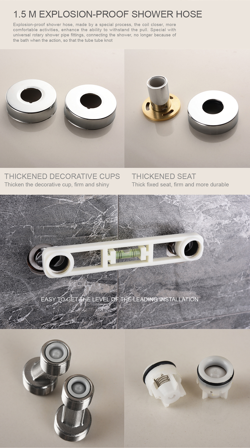Brass Bathroom Shower Mixer