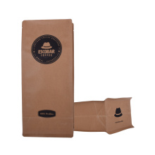 Good Quality for Paper Coffee Biodegradable Zipper Bags Packaging Green Compostable Kraft Paper Coffee Bags With Valve export to Japan Manufacturer