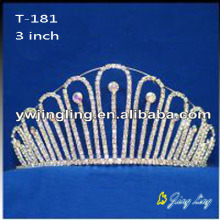 Wholesale Crystal Tiara Crown Wedding Jewelry