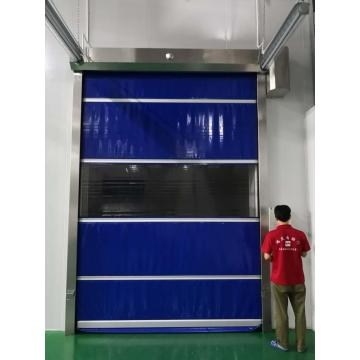 Industrial PVC Fabric High Speed Rolling Shutter Door